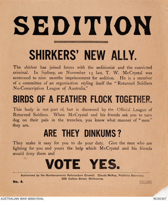 The divide deepens - conscription in 1917
