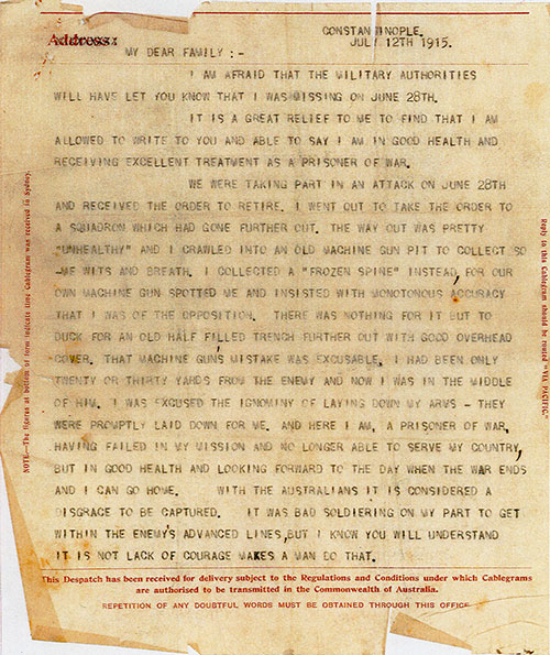 Letter That Ended Turners Defense