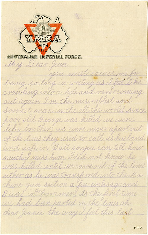 Sad letters home from war picture.